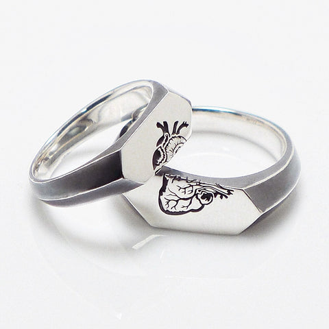 SPLIT HEART Rings