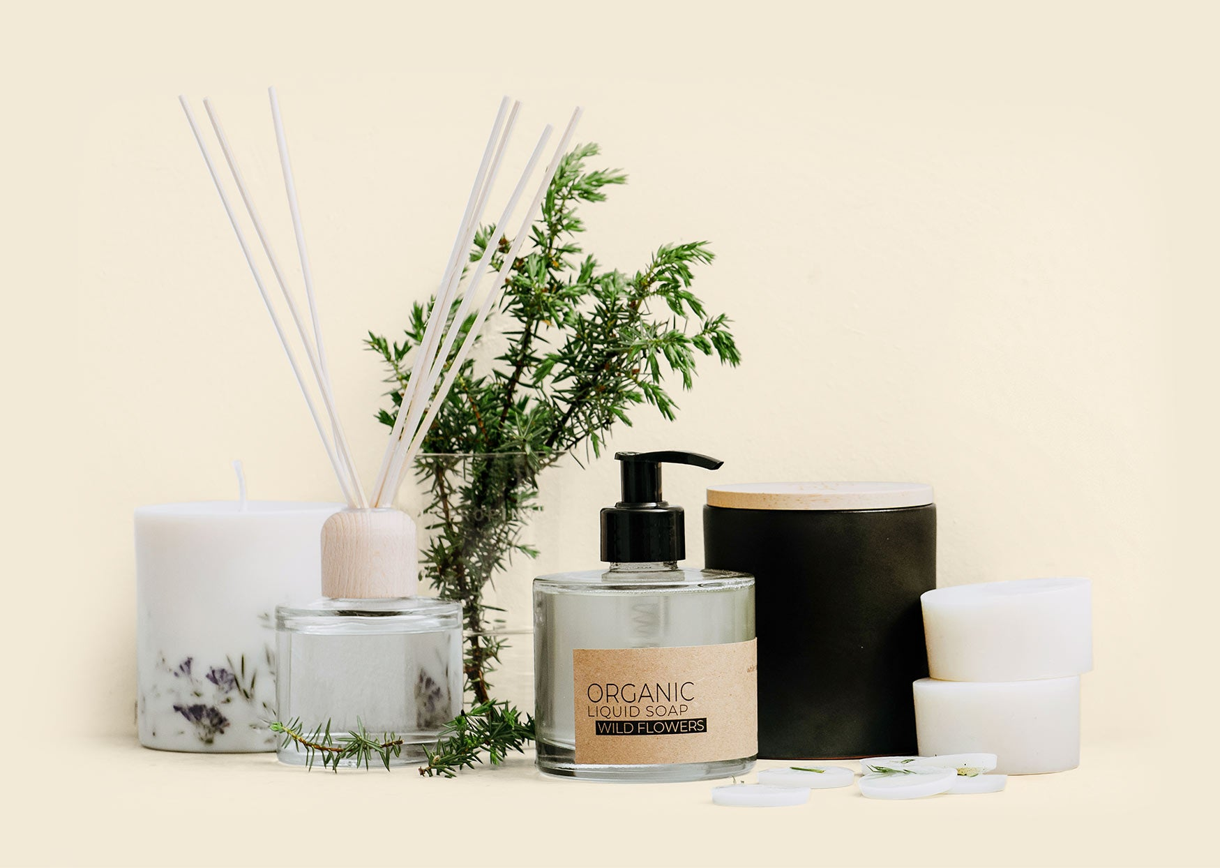 Eco soy wax candles and skincare