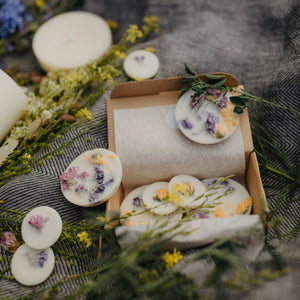 WILD FLOWERS SCENTED SOY WAX ROUNDS