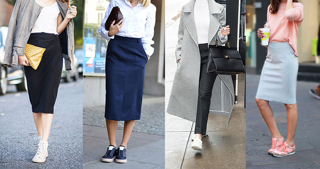 trainers to wear with skirts
