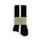 FLAT SOCKS Side Stripe - Black