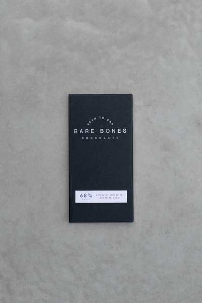 Bare Bones Chocolate - Dominican 68% Salted Chocolate