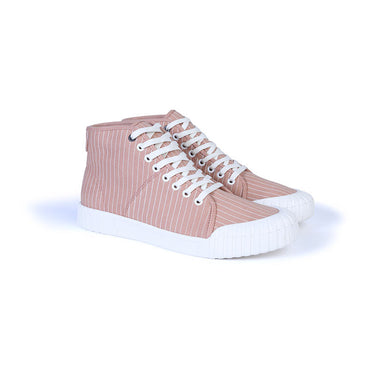 GOOD NEWS LONDON Hurler Hi - Pink Pinstripe
