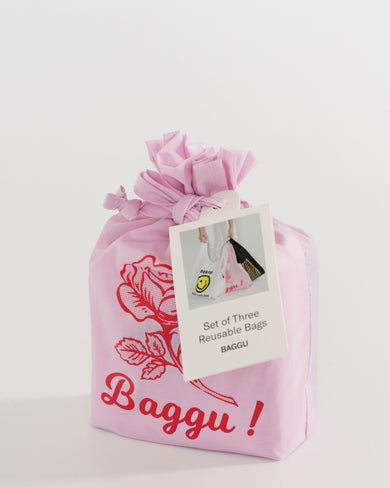 BAGGU Set of 3 Reusable Bags - Thank You set