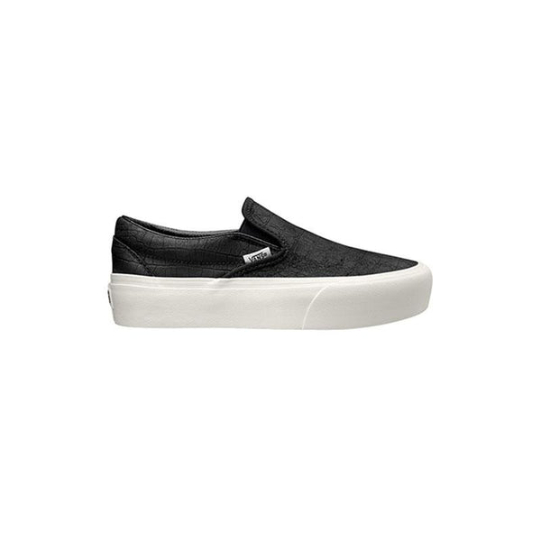 VANS Slip On Embossed Platform - Black / White