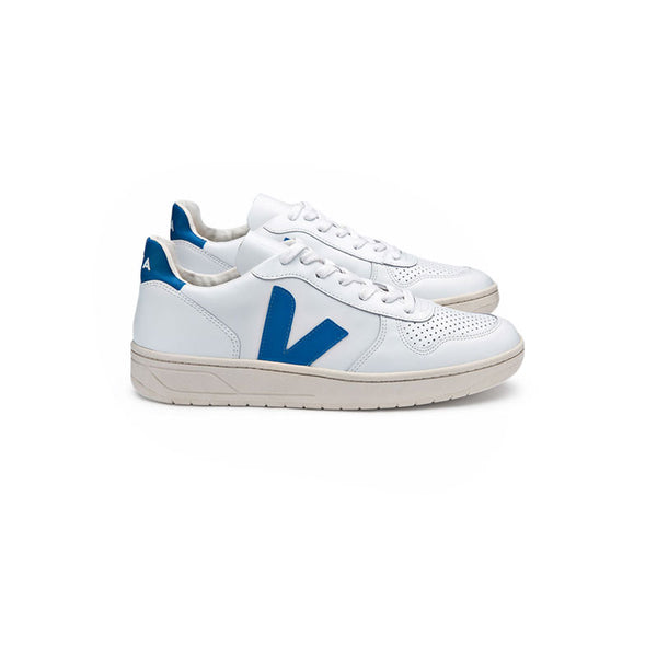 VEJA V-10 - Extra White Swedish Blue