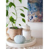 HEBE Shell Candle - Powder Blue