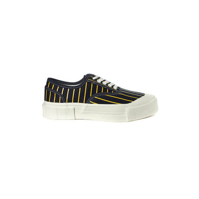 GOOD NEWS LONDON Hurler 2 Low - Navy Yellow Stripe