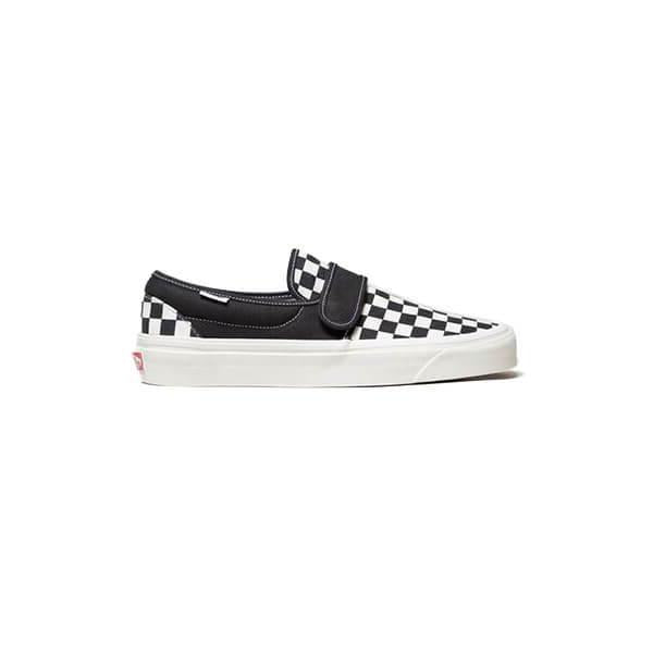 VANS Anaheim Factory Velcro Slip-On - Black Checkerboard