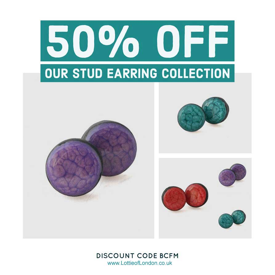 50% Off Stud Earring Sets