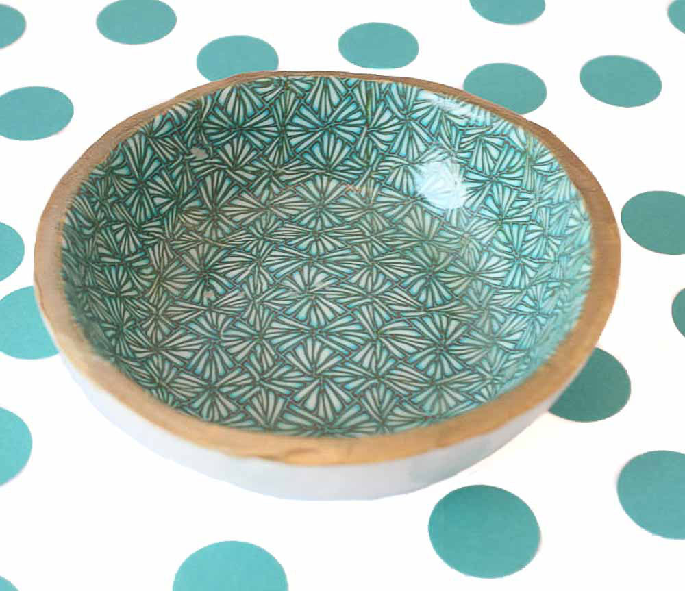 Decorative Turquoise Trinket Bowl for Rings