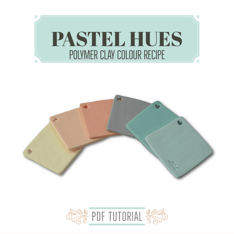 Polymer clay tutorials for colour mixing recipes   Pastels