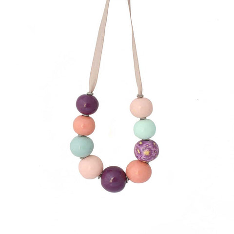 Colourful chnky statement necklace | Lottie Of London Jewellery