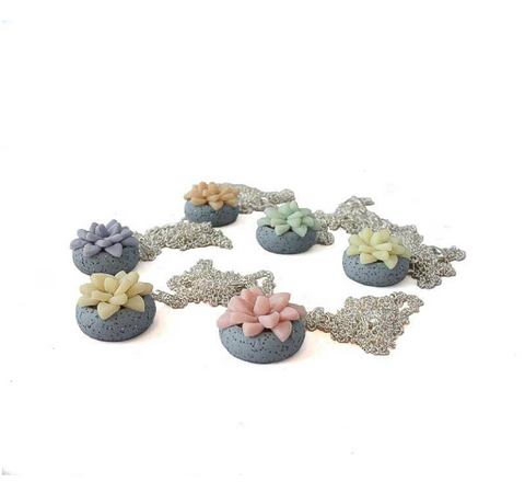 Bridesmaid Succulent Necklace wedding commission