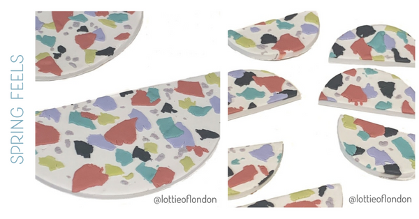 Terrazzo Pendants and Earrings at Lottie Of London