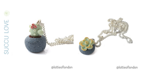 Coming soon new cactus and succulent necklace at Lottie Of London Jewellery