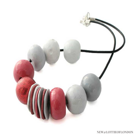 New Statement Bead Necklace at Lottie Of London Jewellery