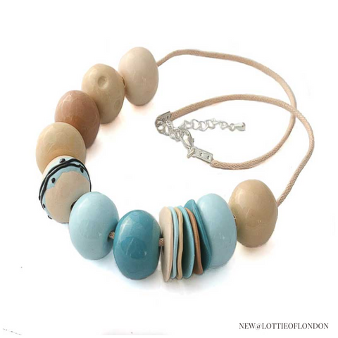 New Statement bead necklace for women at Lottie Of London Jewellery