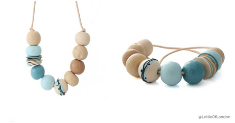 New statement bead necklace at Lottie Of London