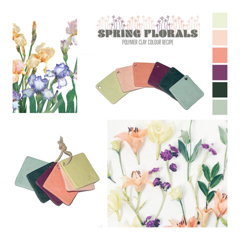 Polymer Clay Colour Mixing Tutorial in PDF | Spring Florals