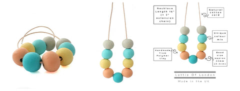 Colour chunky bead necklace for women