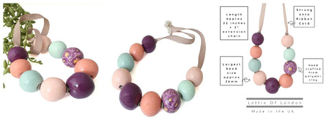 Colourful chunky statement necklace for women