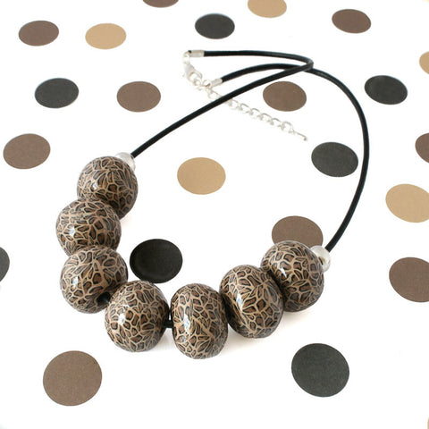 New leopard print statement necklace at Lottie of London Jewellery