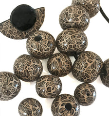 Leopard print beads and jewellery at Lottie of London
