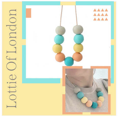 Colourful chunky bead necklace for women