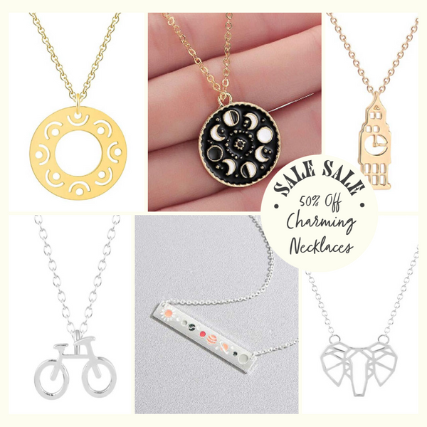 Charm and pendant necklace on sale now upto 50% off | Lottie Of London Jewellery