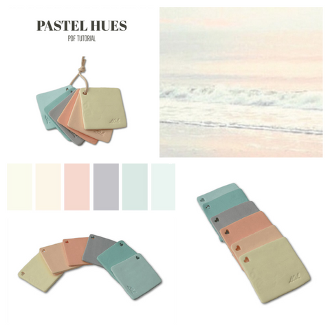 Pastel Hues PDF tutorial for colour mixing recipes with polymer clay