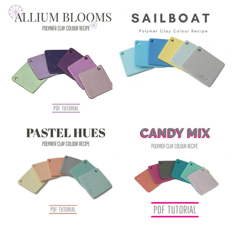 Polymer clay tutorials for colour mixing at Lottie Of London