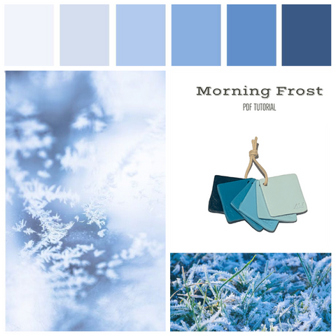 Winter Frost polymer clay colour recipe | PDF colour mixing tutorial