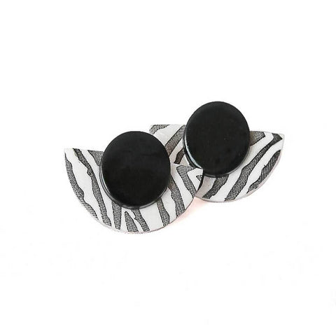Zebra print statement earrings at Lottie Of London Jewellery