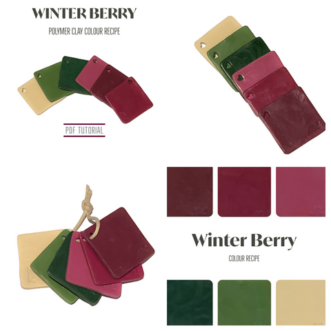 Winter Berry Polymer Clay Colour Mixing Recipe | PDF Tutorials