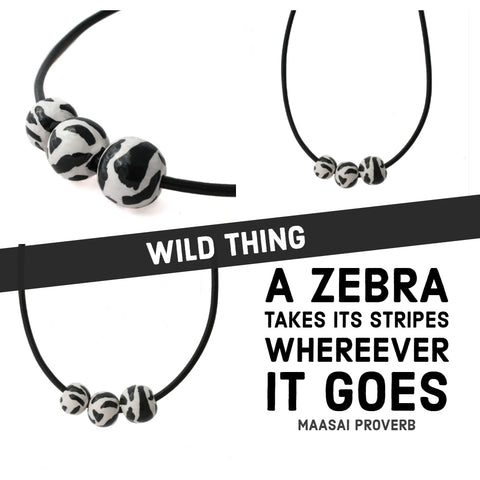 Zebra print statement necklace | Commissions at Lottie Of London Jewellery