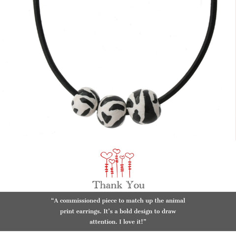 Zebra statement necklace | Customer review