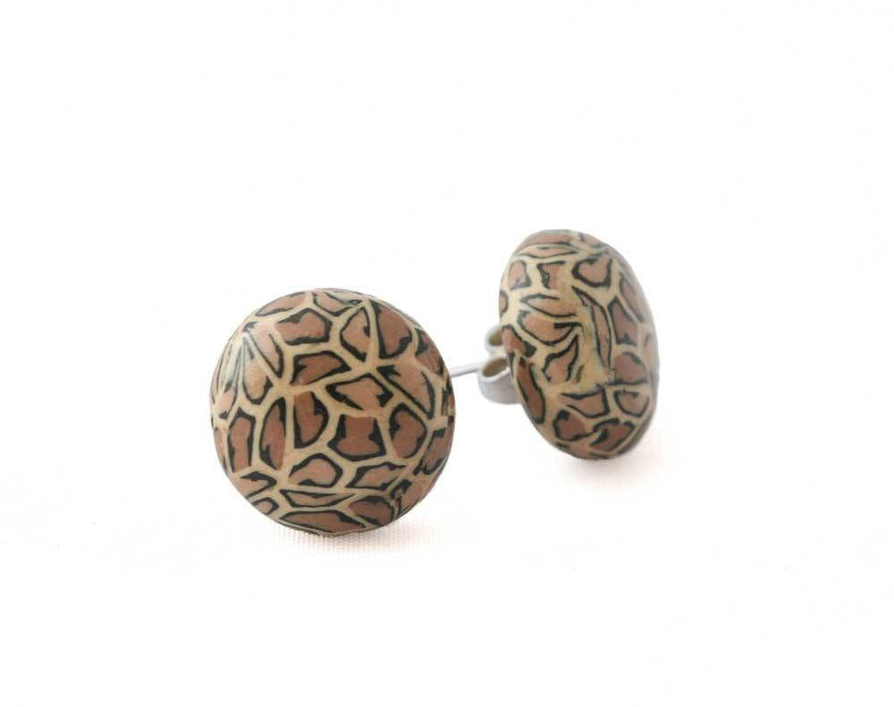 Leopard Print Stud Earrings for Women - Lottie Of London Jewellery
