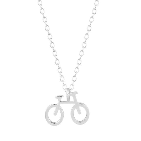 Dainty Bicycle Charm Necklace