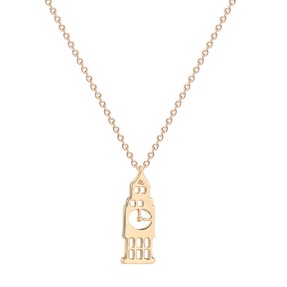 Big Ben Charm Necklace - Lottie Of London Jewellery