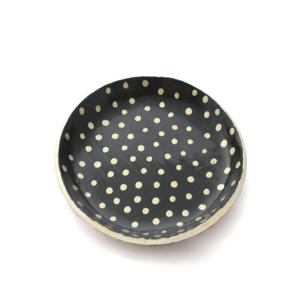 Trinket Dish for Rings in Black and Gold - Lottie Of London Jewellery