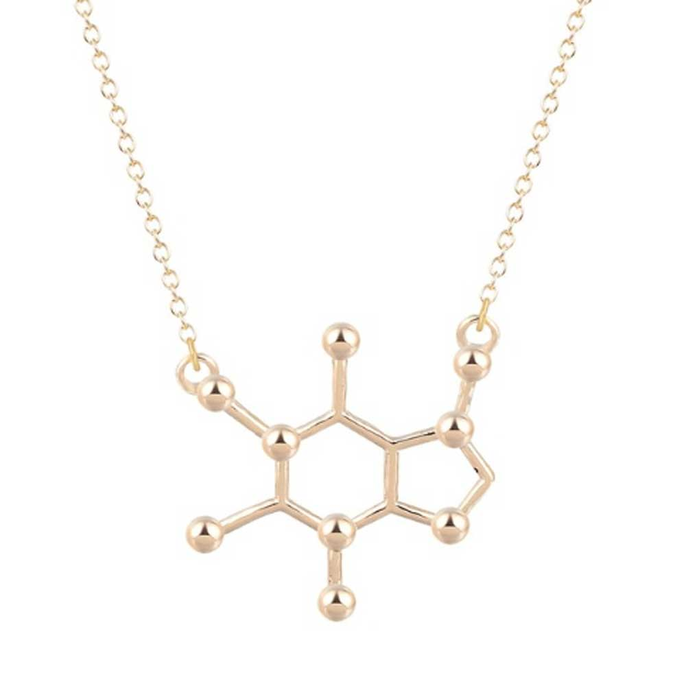 Caffeine Molecule Charm Necklace - Lottie Of London Jewellery
