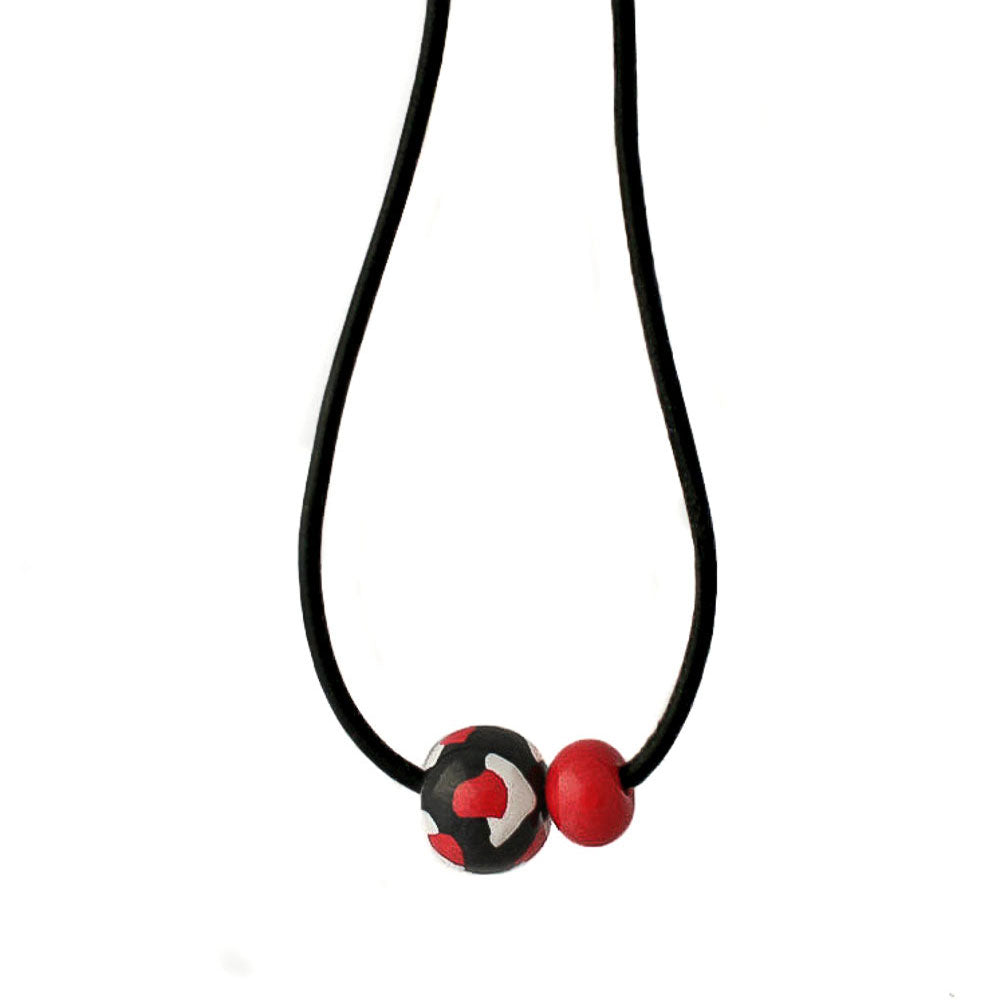 Black Chunky Bead Necklace - Lottie Of London Jewellery