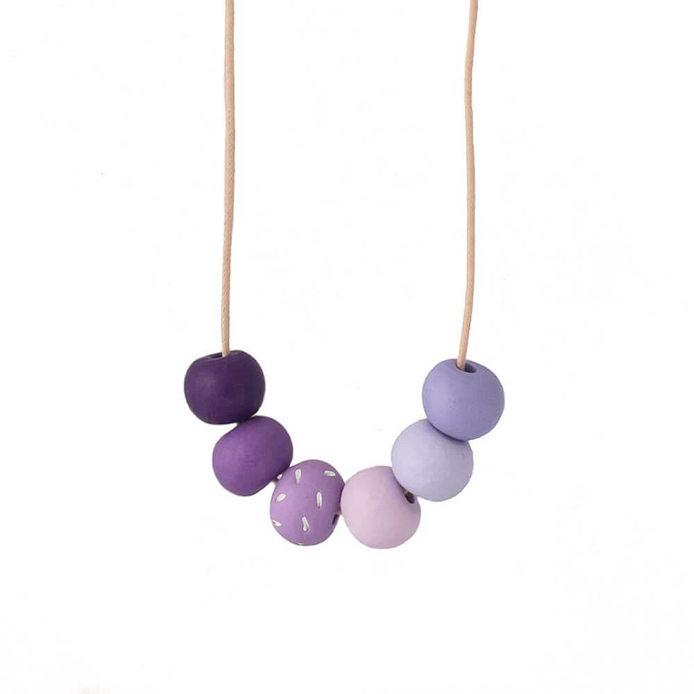 Purple Long Bead Necklace for Women - Lottie Of London Jewellery