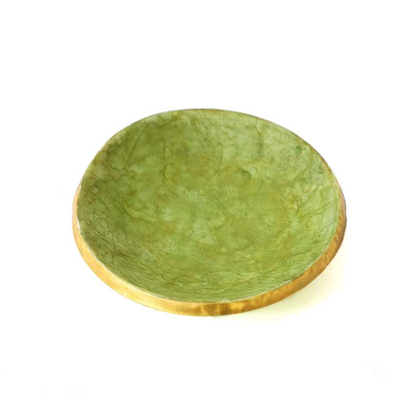 trinket ring dish for jewellery in green