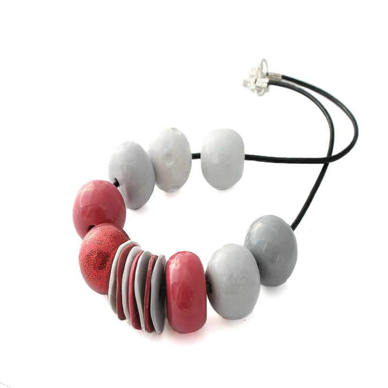 Red Statement Bead Necklace for Women - Lottie Of London Jewellery
