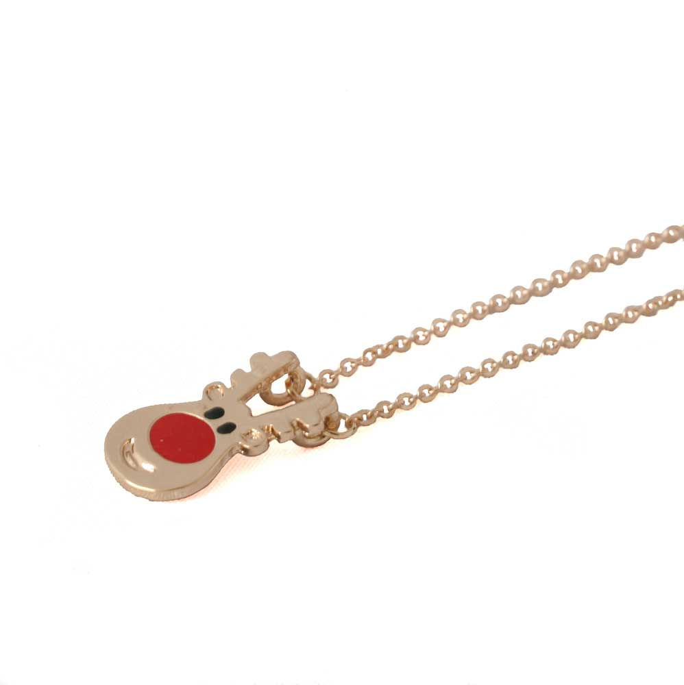 Dainty Reindeer Charm Necklace - Lottie Of London Jewellery