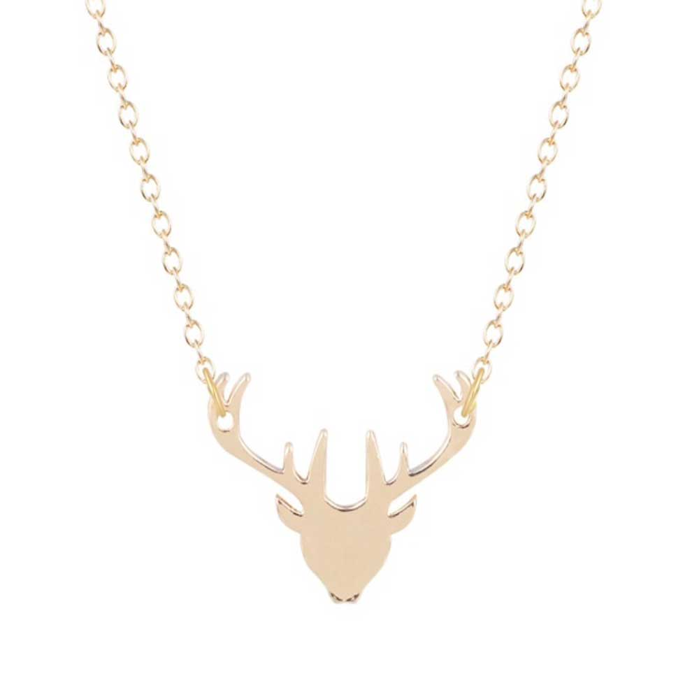 Dainty Stag Pendant Necklace - Lottie Of London Jewellery