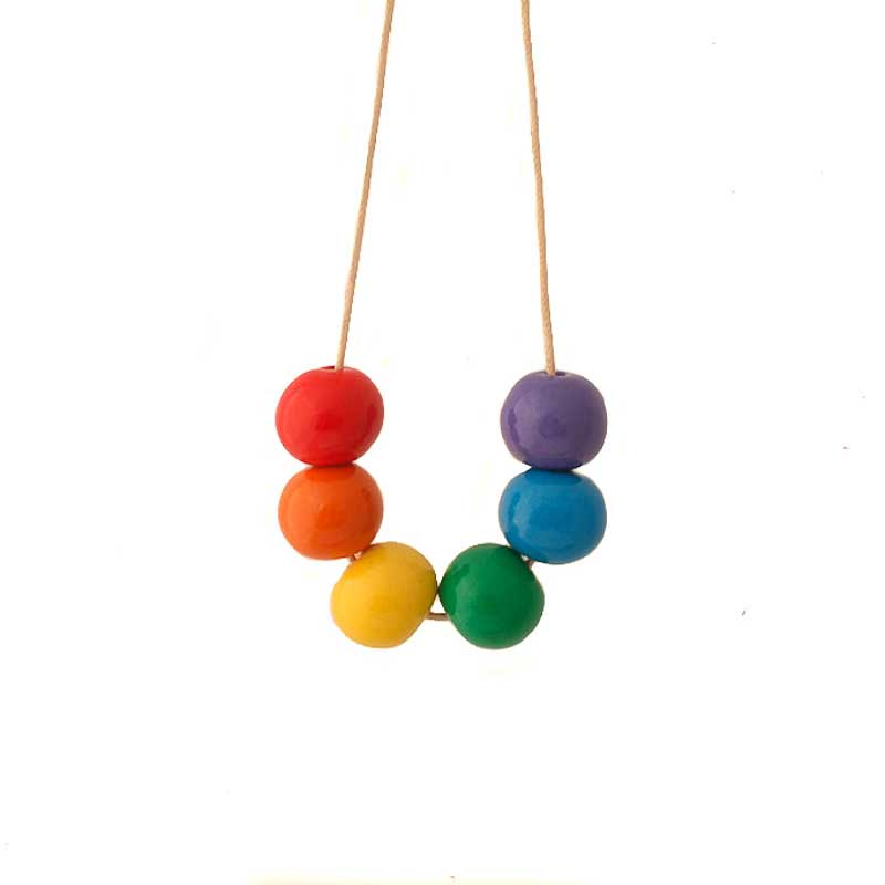 Rainbow Chunky Statement Necklace for Women