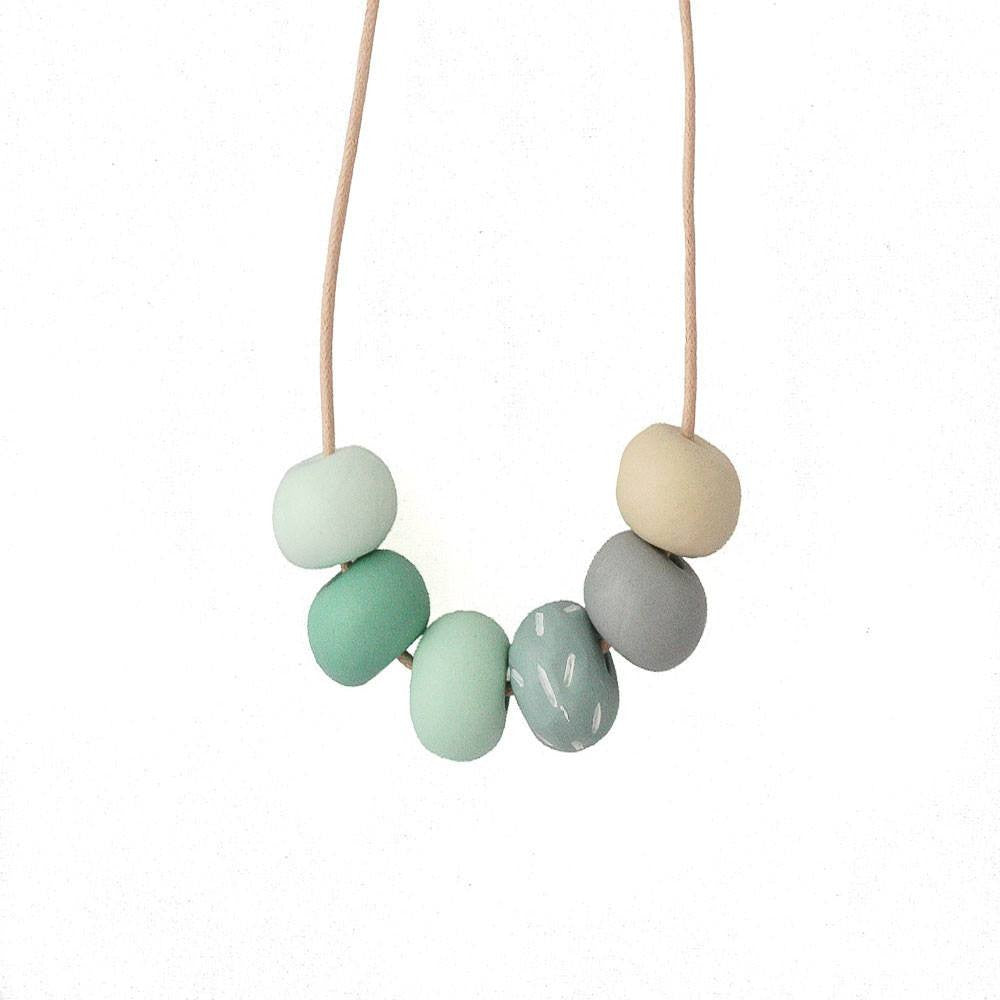 Long Bead Necklace in Green - Lottie Of London Jewellery